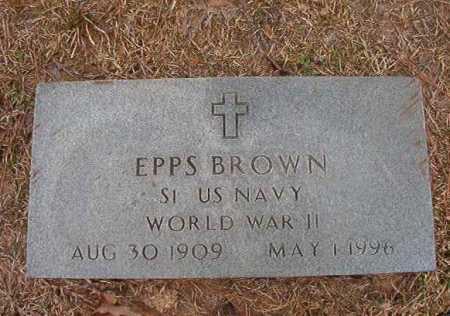 BROWN (VETERAN WWII), EPPS - Union County, Arkansas   EPPS BROWN (VETERAN WWII) - Arkansas Gravestone Photos