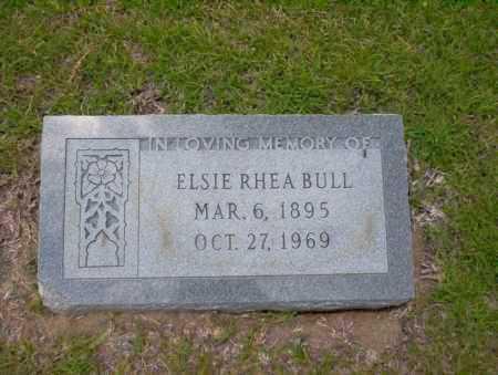 BULL, ELSIE RHEA - Union County, Arkansas | ELSIE RHEA BULL - Arkansas Gravestone Photos