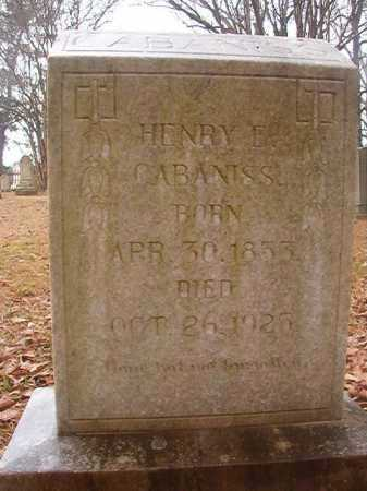 CABANISS, HENRY E - Union County, Arkansas | HENRY E CABANISS - Arkansas Gravestone Photos