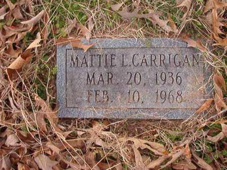 CARRIGAN, MATTIE L - Union County, Arkansas | MATTIE L CARRIGAN - Arkansas Gravestone Photos
