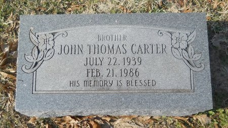 CARTER, JOHN THOMAS - Union County, Arkansas   JOHN THOMAS CARTER - Arkansas Gravestone Photos