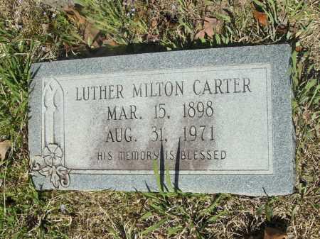 CARTER, LUTHER MILTON - Union County, Arkansas   LUTHER MILTON CARTER - Arkansas Gravestone Photos