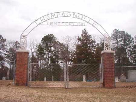 *CHAMPAGNOLLE, CEMETERY - Union County, Arkansas   CEMETERY *CHAMPAGNOLLE - Arkansas Gravestone Photos
