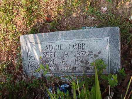 COBB, ADDIE - Union County, Arkansas | ADDIE COBB - Arkansas Gravestone Photos