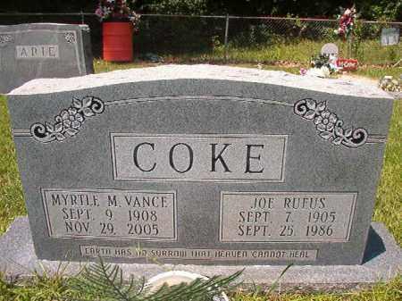 VANCE COKE, MYRTLE M - Union County, Arkansas | MYRTLE M VANCE COKE - Arkansas Gravestone Photos