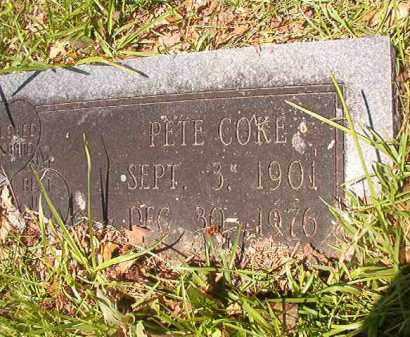 COKE, PETE - Union County, Arkansas | PETE COKE - Arkansas Gravestone Photos
