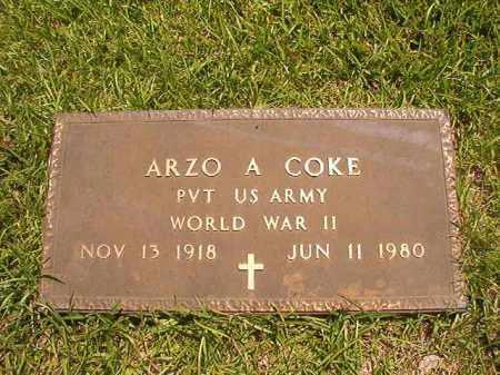 COKE (VETERAN WWII), ARZO A - Union County, Arkansas | ARZO A COKE (VETERAN WWII) - Arkansas Gravestone Photos