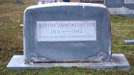 COLE, MARTHA - Union County, Arkansas | MARTHA COLE - Arkansas Gravestone Photos