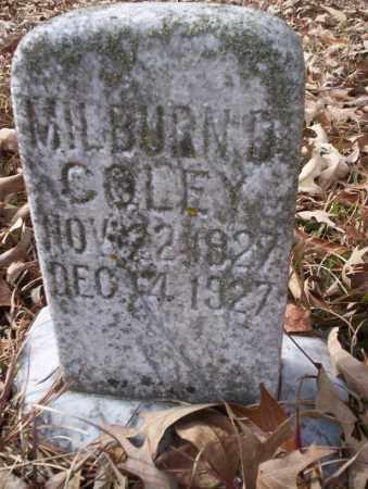 COLEY, MILBURN D - Union County, Arkansas | MILBURN D COLEY - Arkansas Gravestone Photos