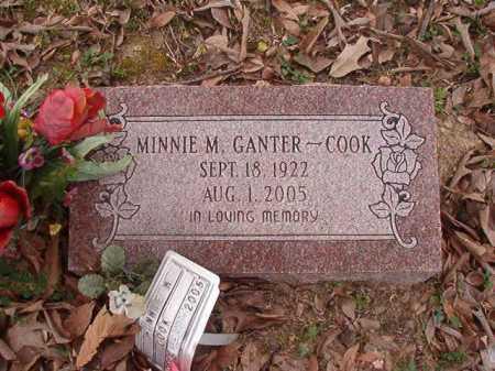 GANTER COOK, MINNIE M - Union County, Arkansas | MINNIE M GANTER COOK - Arkansas Gravestone Photos