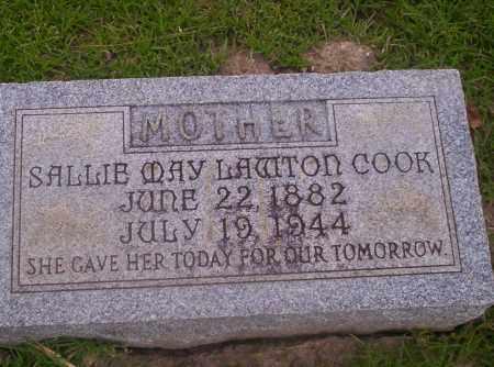 LAWTON COOK, SALLIE MAY - Union County, Arkansas | SALLIE MAY LAWTON COOK - Arkansas Gravestone Photos