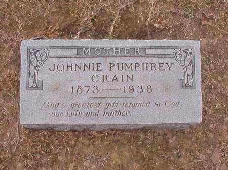 PUMPHREY CRAIN, JOHNNIE - Union County, Arkansas | JOHNNIE PUMPHREY CRAIN - Arkansas Gravestone Photos