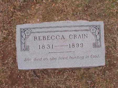 CRAIN, REBECCA - Union County, Arkansas   REBECCA CRAIN - Arkansas Gravestone Photos