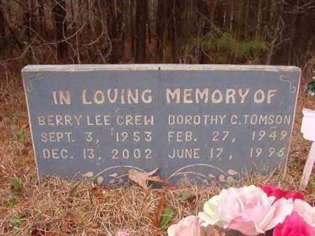 TOMSON, DOROTHY C - Union County, Arkansas   DOROTHY C TOMSON - Arkansas Gravestone Photos