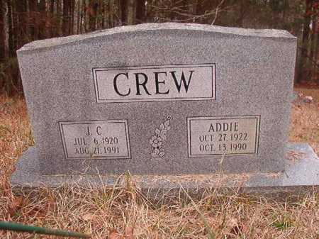 CREW, ADDIE - Union County, Arkansas | ADDIE CREW - Arkansas Gravestone Photos