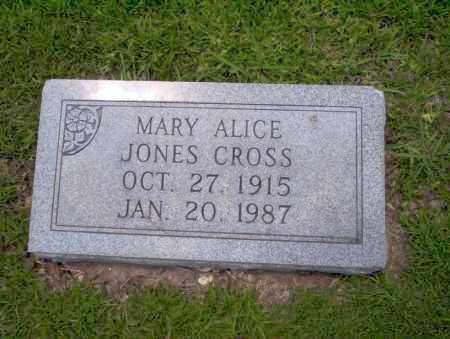 JONES CROSS, MARY ALICE - Union County, Arkansas | MARY ALICE JONES CROSS - Arkansas Gravestone Photos