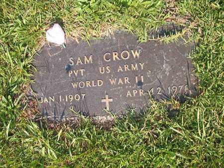 CROW (VETERAN WWII), SAM - Union County, Arkansas | SAM CROW (VETERAN WWII) - Arkansas Gravestone Photos
