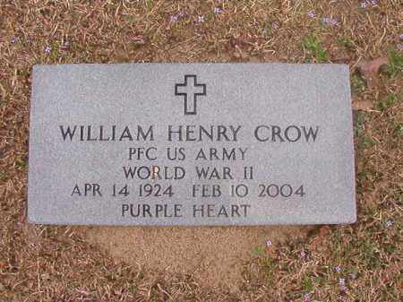 CROW (VETERAN WWII), WILLIAM HENRY - Union County, Arkansas | WILLIAM HENRY CROW (VETERAN WWII) - Arkansas Gravestone Photos