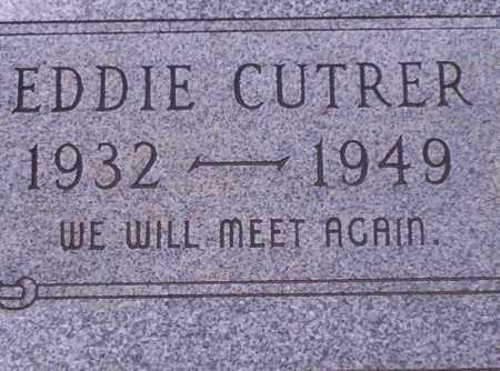 CUTRER, EDDIE - Union County, Arkansas   EDDIE CUTRER - Arkansas Gravestone Photos