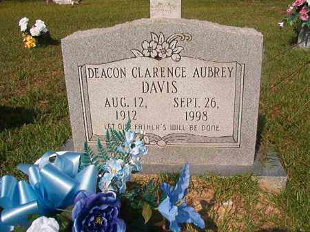 DAVIS, CLARENCE AUBREY - Union County, Arkansas | CLARENCE AUBREY DAVIS - Arkansas Gravestone Photos
