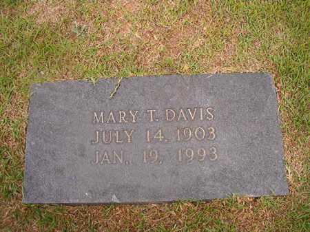DAVIS, MARY T - Union County, Arkansas | MARY T DAVIS - Arkansas Gravestone Photos