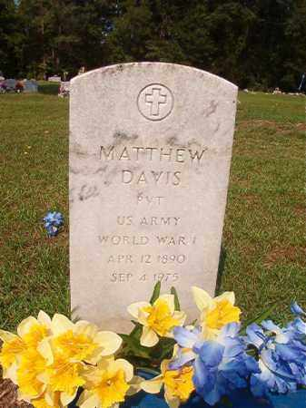 DAVIS (VETERAN WWI), MATTHEW - Union County, Arkansas   MATTHEW DAVIS (VETERAN WWI) - Arkansas Gravestone Photos
