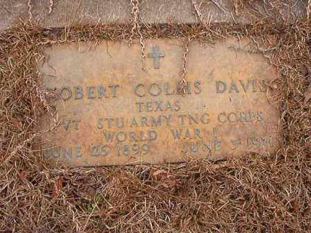 DAVIS (VETERAN WWI), ROBERT COLLIS - Union County, Arkansas | ROBERT COLLIS DAVIS (VETERAN WWI) - Arkansas Gravestone Photos