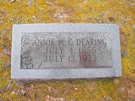 DEARING, ANNIE M G - Union County, Arkansas | ANNIE M G DEARING - Arkansas Gravestone Photos