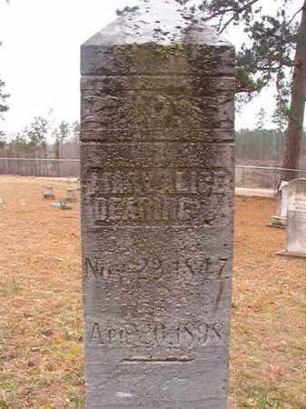 DEARING, MARY ALICE - Union County, Arkansas | MARY ALICE DEARING - Arkansas Gravestone Photos