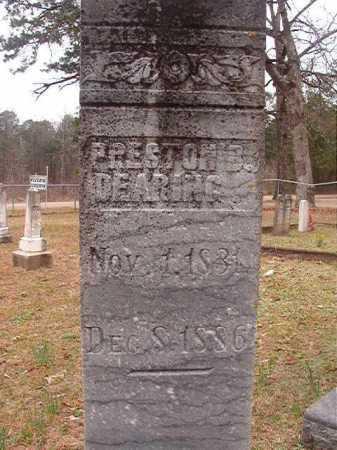 DEARING, PRESTON B - Union County, Arkansas | PRESTON B DEARING - Arkansas Gravestone Photos
