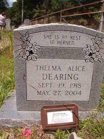 DEARING, THELMA ALICE - Union County, Arkansas | THELMA ALICE DEARING - Arkansas Gravestone Photos