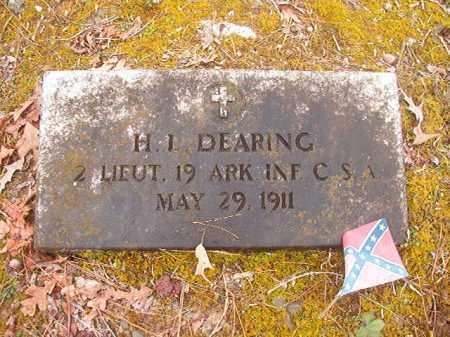 DEARING (VETERAN CSA), H L - Union County, Arkansas | H L DEARING (VETERAN CSA) - Arkansas Gravestone Photos