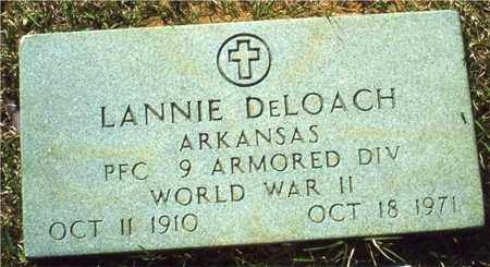 DELOACH (VETERAN WWII), LANNIE - Union County, Arkansas | LANNIE DELOACH (VETERAN WWII) - Arkansas Gravestone Photos