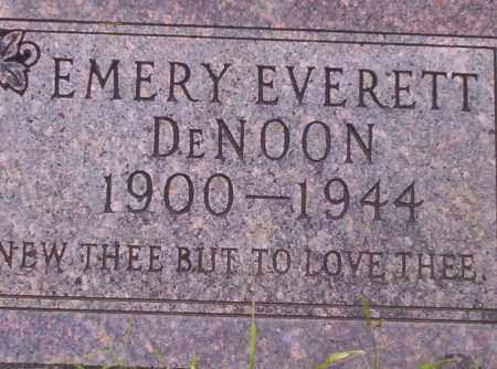 DENOON, EMERY EVERETT - Union County, Arkansas | EMERY EVERETT DENOON - Arkansas Gravestone Photos