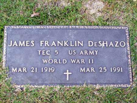 DESHAZO (VETERAN WWII), JAMES FRANKLIN - Union County, Arkansas | JAMES FRANKLIN DESHAZO (VETERAN WWII) - Arkansas Gravestone Photos