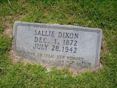 DIXON, SALLIE - Union County, Arkansas | SALLIE DIXON - Arkansas Gravestone Photos