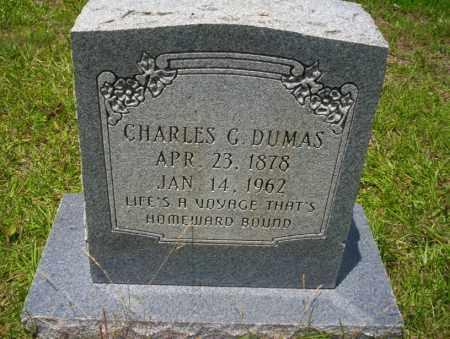 DUMAS, CHARLES G - Union County, Arkansas | CHARLES G DUMAS - Arkansas Gravestone Photos