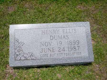 DUMAS, HENRY ELLIS - Union County, Arkansas   HENRY ELLIS DUMAS - Arkansas Gravestone Photos
