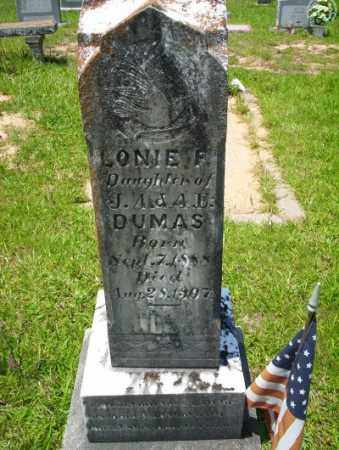 DUMAS, LONIE F - Union County, Arkansas | LONIE F DUMAS - Arkansas Gravestone Photos