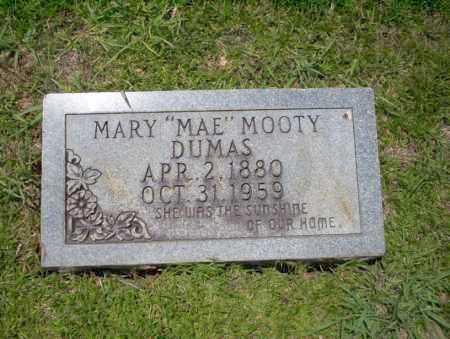 MOOTY DUMAS, MARY MAE - Union County, Arkansas | MARY MAE MOOTY DUMAS - Arkansas Gravestone Photos