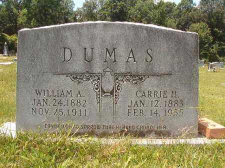 DUMAS, CARRIE H - Union County, Arkansas | CARRIE H DUMAS - Arkansas Gravestone Photos