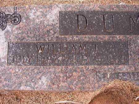 DUMAS, WILLIAM T - Union County, Arkansas | WILLIAM T DUMAS - Arkansas Gravestone Photos
