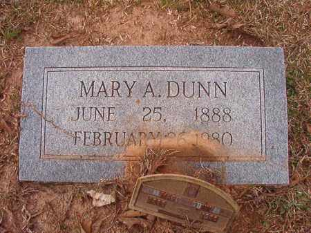 DUNN, MARY A - Union County, Arkansas | MARY A DUNN - Arkansas Gravestone Photos