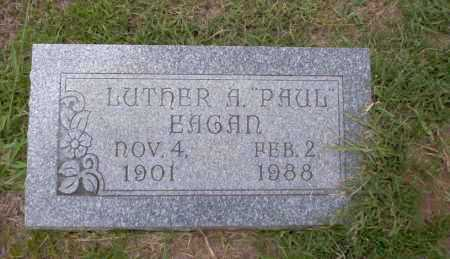 EAGAN, LUTHER A PAUL - Union County, Arkansas | LUTHER A PAUL EAGAN - Arkansas Gravestone Photos