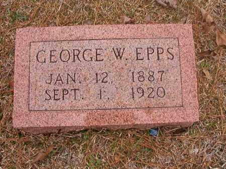 EPPS, GEORGE W - Union County, Arkansas   GEORGE W EPPS - Arkansas Gravestone Photos