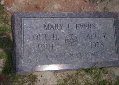 EVERS, MARY L - Union County, Arkansas | MARY L EVERS - Arkansas Gravestone Photos