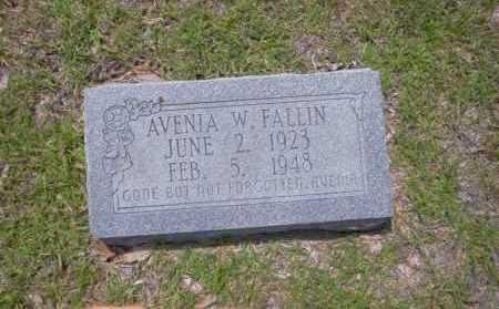 FALLIN, AVENIA W. - Union County, Arkansas | AVENIA W. FALLIN - Arkansas Gravestone Photos