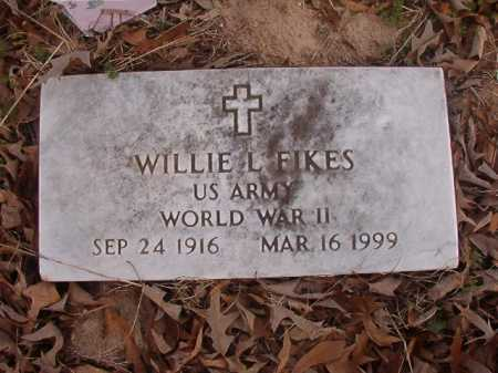 FIKES (VETERAN WWII), WILLIE L - Union County, Arkansas | WILLIE L FIKES (VETERAN WWII) - Arkansas Gravestone Photos