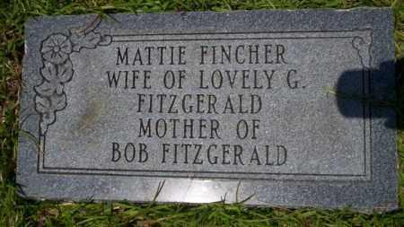 FINCHER FITZGERALD, MATTIE - Union County, Arkansas | MATTIE FINCHER FITZGERALD - Arkansas Gravestone Photos