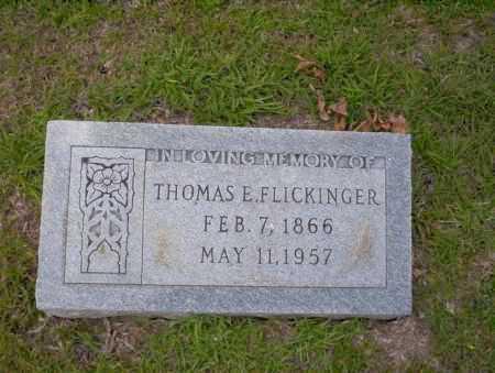FLICKINGER, THOMAS E - Union County, Arkansas   THOMAS E FLICKINGER - Arkansas Gravestone Photos